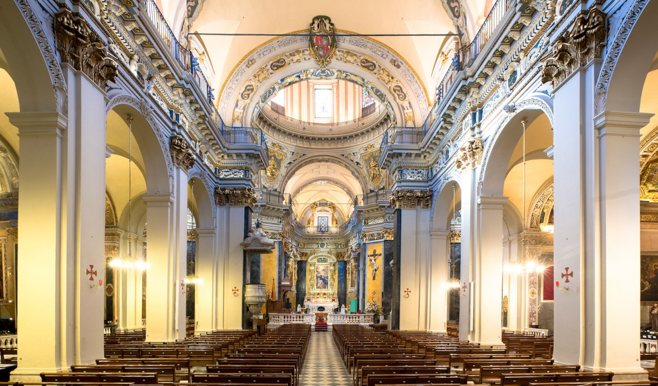 Interior Catedral de Sainte Reparate em Nice