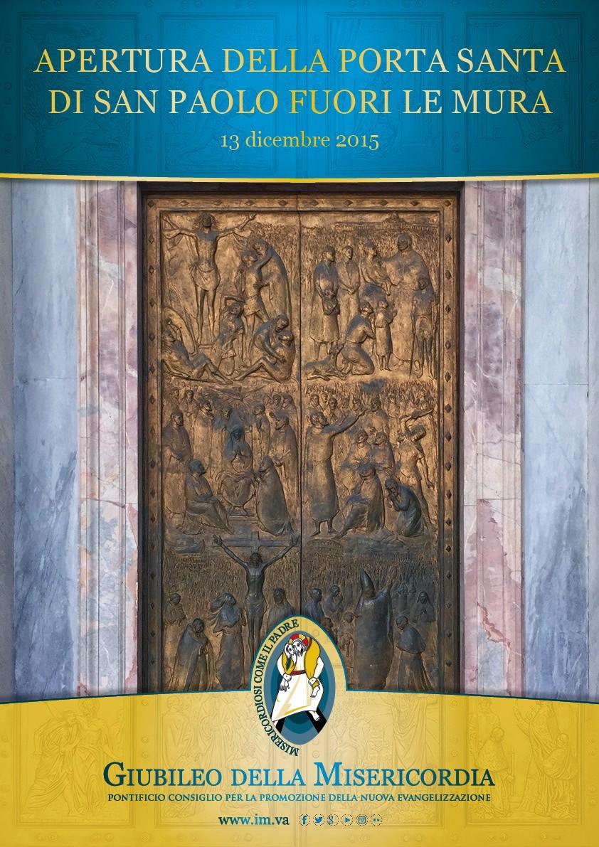 Apertura della porta santa di san paolo fuori le mura - Apertura porta di roma ...